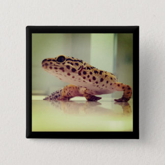 Leopard Gecko 15 Cm Square Badge