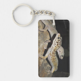 Leopard gecko design for all gecko lovers! Double-Sided rectangular acrylic key ring