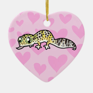 Leopard Gecko Love (add your own message) Christmas Ornament