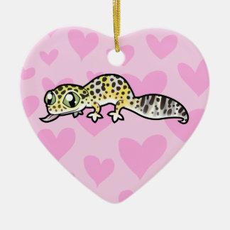 Leopard Gecko Love Christmas Ornament