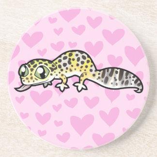 Leopard Gecko Love Coaster