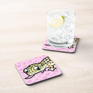 Leopard Gecko Love Drink Coaster
