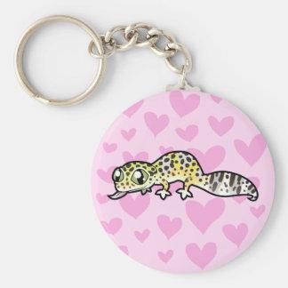 Leopard Gecko Love Key Ring