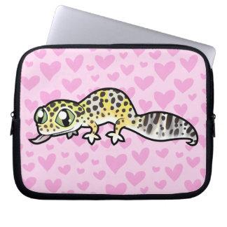 Leopard Gecko Love Laptop Sleeve