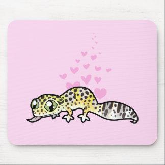 Leopard Gecko Love Mouse Mat