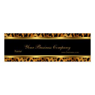 Leopard Gold Black Stripe Elegant Classy Skinny Pack Of Skinny Business Cards
