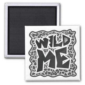Leopard Gray and Light Gray Print Fridge Magnets