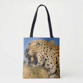 Leopard Growling Tote Bag