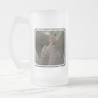 Leopard Habitat Frosted Beer Mug