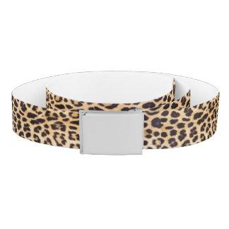 Leopard hair belt