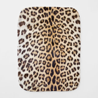 Leopard hair burp cloth