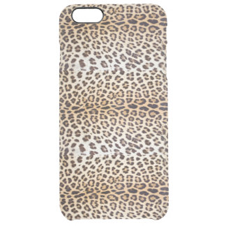 Leopard hair clear iPhone 6 plus case