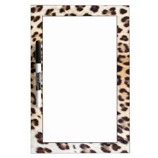 Leopard hair dry erase board