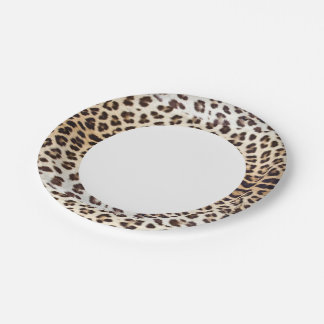 Leopard hair paper plate