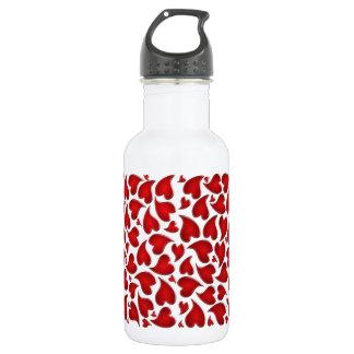 leopard heart 532 ml water bottle