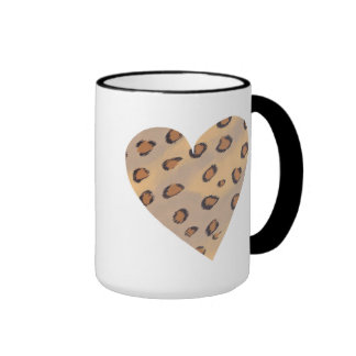 Leopard Heart, custom animal print mugs