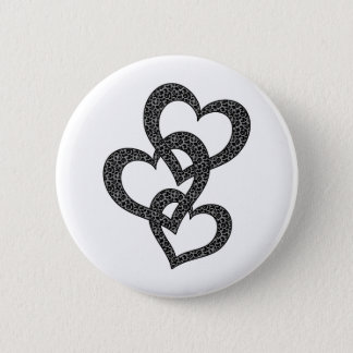 Leopard Hearts 6 Cm Round Badge