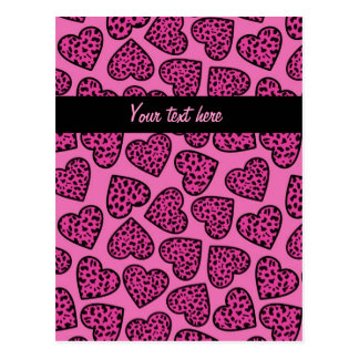 Leopard hearts Design Postcard Post Card