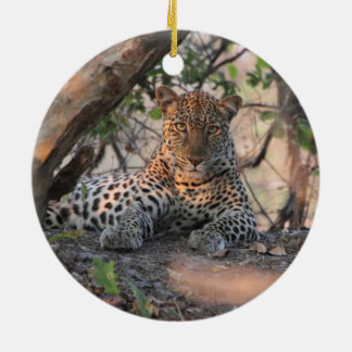 Leopard holiday ornament