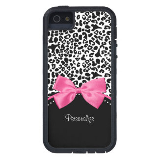 Leopard Hot Pink Bow iPhone 5 Cover
