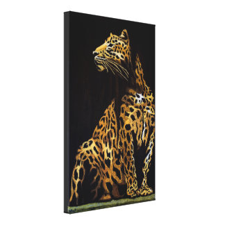 Leopard in the darkness canvas print