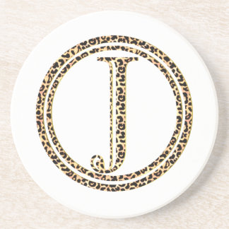 Leopard J Sandstone Coaster