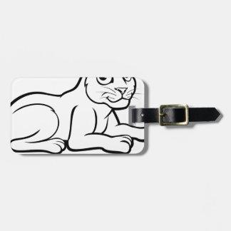 Leopard Jaguar or Panther Luggage Tag