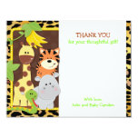 Leopard Jungle Friends Baby Shower Thank You Cards 11 Cm X 14 Cm Invitation Card