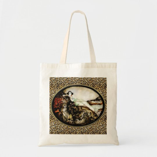 Leopard Lady Bag from Icart Etching Art Deco