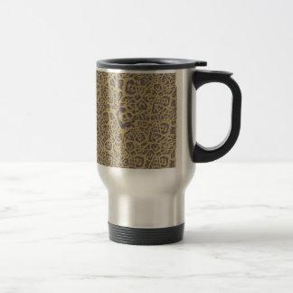 Leopard like print coffee mugs