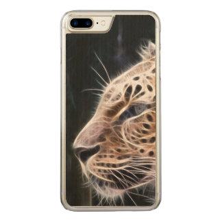 Leopard lines,Leopard painting Carved iPhone 8 Plus/7 Plus Case