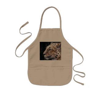 Leopard lines,Leopard painting Kids Apron