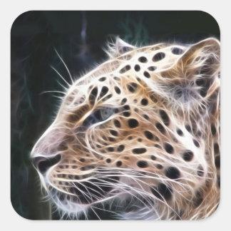 Leopard lines,Leopard painting Square Sticker