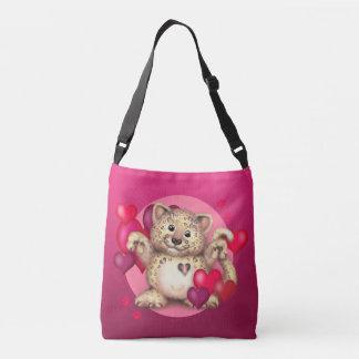 LEOPARD LOVE All-Over-Print Cross Body Bag, Medium Crossbody Bag