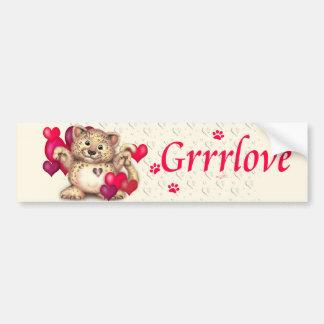 LEOPARD LOVE CAT CUTE Bumper Sticker