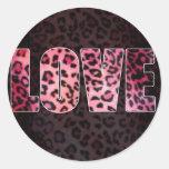 Leopard Love Classic Round Sticker