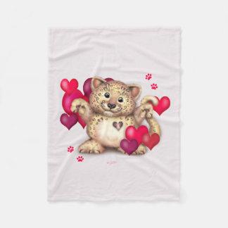 "LEOPARD LOVE Fleece Blanket, 30""x40"""