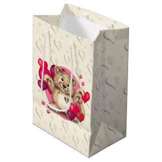LEOPARD LOVE Gift Bag - MEDIUM GLOSSY 2