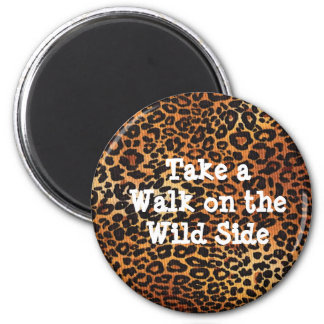Leopard Magnet with Saying