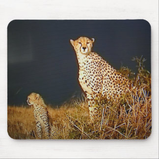 """LEOPARD MOM AND CHILD MOUSE PAD"" MOUSE MAT"