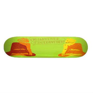 Leopard monks custom skate board