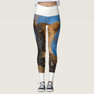 Leopard On Rock Leggings