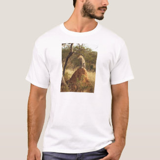Leopard on Termite Mound in Namibia T-Shirt