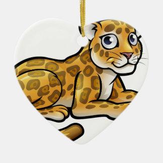 Leopard or Jaguar Cartoon Christmas Ornament
