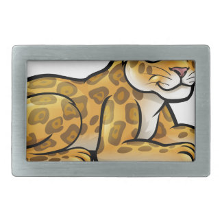 Leopard or Jaguar Cartoon Rectangular Belt Buckles