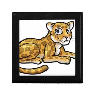 Leopard or Jaguar Cartoon Small Square Gift Box