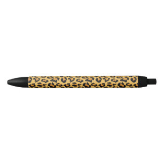 Leopard or Jaguar Print Faux Fur Pattern Black Ink Pen