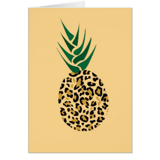 Leopard or Pineapple? Funny illusion picture Card