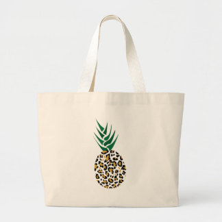 Leopard or Pineapple? Funny illusion picture Large Tote Bag