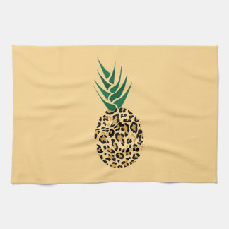 Leopard or Pineapple? Funny illusion picture Tea Towel